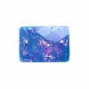 Resin Sew-on Dichroic Style 10pcs 15x21mm Rectangle Aqua